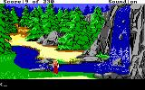 King's Quest IV: The Perils of Rosella DOS AGI: A waterfall.
