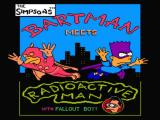 The Simpsons: Bartman Meets Radioactive Man NES Title screen