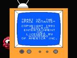 The Simpsons: Bart vs. the Space Mutants NES Title screen