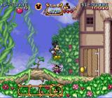 The Magical Quest Starring Mickey Mouse SNES The first level, jumping on a bee.