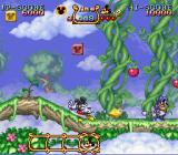 The Magical Quest Starring Mickey Mouse SNES Mickey can grab and spin blocks to attack.