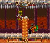 The Magical Quest Starring Mickey Mouse SNES Mid-boss - don't get pushed into the spikes.