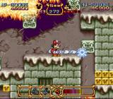The Magical Quest Starring Mickey Mouse SNES Move moving platforms into different positions to reach new areas.