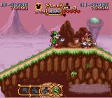 The Magical Quest Starring Mickey Mouse SNES ... as well as attack: Here he is stealing a shield.