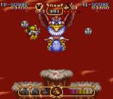 The Magical Quest Starring Mickey Mouse SNES Another boss-fight: attack him with magic, water or chickens...
