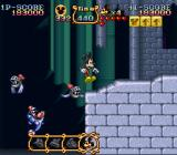 The Magical Quest Starring Mickey Mouse SNES Jumping over armoured bats.