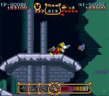 The Magical Quest Starring Mickey Mouse SNES Using the turban to activate the flying carpet.