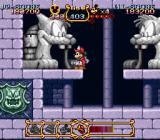 The Magical Quest Starring Mickey Mouse SNES There are many passages through Pete's castle.