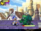 Panzer Bandit PlayStation Second mini boss encounter: A robot in a mecha suit.