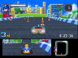 Mega Man Battle & Chase PlayStation Racing against Roll. You see where she's located in the lower half of the screen.