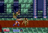 Golden Axe II Genesis You can now pick up an enemy and choose to throw him to the left or to the right; preferably on another enemy of course