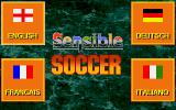 International Sensible Soccer DOS Language select