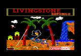 Livingstone, I Presume? Amstrad CPC Title screen