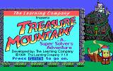Super Solvers: Treasure Mountain! DOS Title screen v 1.00