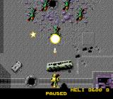 Firepower 2000 Genesis An enemy getting shot down.