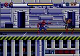 Spider-Man Genesis Shooting webbing at an enemy.
