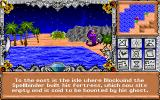 Might and Magic III: Isles of Terra DOS From a certain shoreline the player can hire a tour boat...