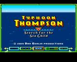 Typhoon Thompson in Search for the Sea Child Amiga Title screen