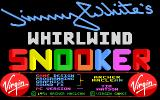 Jimmy White's Whirlwind Snooker DOS Title screen