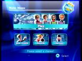 TV Show King Wii Main menu.
