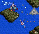 Final Soldier TurboGrafx-16 Shooting at two large planes