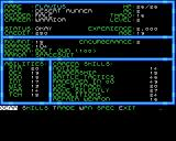 Buck Rogers: Countdown to Doomsday Amiga Character statistics