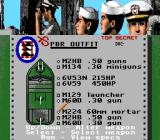 Gunboat TurboGrafx-16 Selecting the boat's weapons