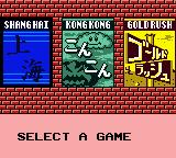 Shanghai Pocket Game Boy Color Shanghai, Kong Kong, and Goldrush.