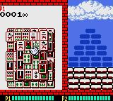 Shanghai Pocket Game Boy Color Failing to clear your tiles fast enough will mean that the blocks you're trying to build fall onto your side as tiles.