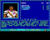 Curse of the Azure Bonds Amiga Begin of adventure: You can't leave the town...