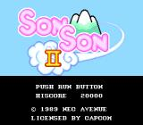 Son Son II TurboGrafx-16 Title screen