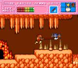 Son Son II TurboGrafx-16 Son Goku attacks a bat with his new level 2 staff