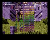 Battle Squadron Amiga High Scores
