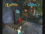 The Incredibles: Rise of the Underminer GameCube Activating a barge.