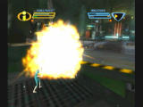 The Incredibles: Rise of the Underminer GameCube Nice explosion.