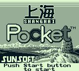 Shanghai Pocket Game Boy Title screen