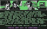 "Sherlock Holmes in ""Another Bow"" Commodore 64 Start of the game..."