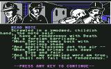 "Sherlock Holmes in ""Another Bow"" Commodore 64 Mysterious poem in the note..."