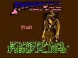 Indiana Jones and the Temple of Doom NES Title screen