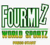 Antz World Sportz Game Boy Color Title Screen (French)