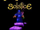 Solstice: The Quest for the Staff of Demnos NES Title screen