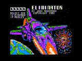 The Eliminator Apple II Title screen