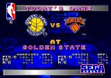 NBA Action '94 Genesis Match-up screen