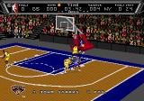 NBA Action '94 Genesis The game shows the players name plus how many points they scored in the game during gameplay.