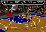 NBA Action '94 Genesis Dribbling the ball.