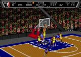 NBA Action '94 Genesis The ball going in the net.
