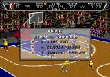 NBA Action '94 Genesis Options during the game