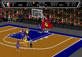 NBA Action '94 Genesis The referee calls a foul.