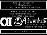 The Eliminator TRS-80 Title screen 1