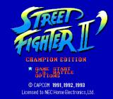 Street Fighter II': Special Champion Edition TurboGrafx-16 Title screen